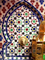 Moroccan Mosaic Tables and Fountains