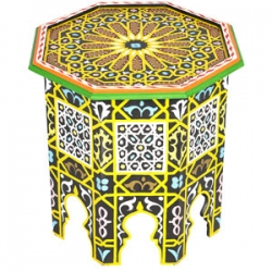 Orientalischer Marokkanischer Beistelltisch Tisch Blumentisch Telefontisch Rund